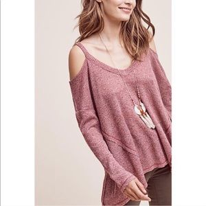 Anthropologie Deletta Pink Millipa Thermal Top XS